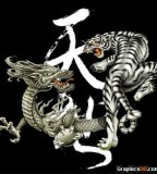 Dragon Versus Tiger Tattoo Sample
