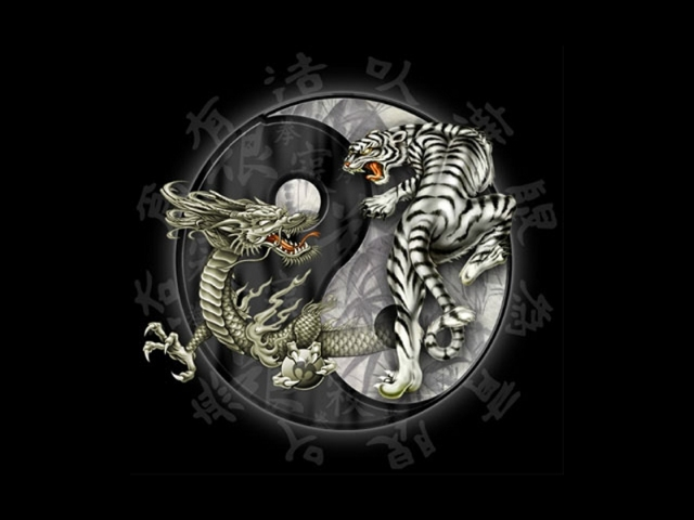 Tattoos Yin Yang With Dragon And Tiger Tattoo Tattoomagz