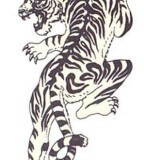 Crawling Tiger Tattoos Sketch Design