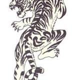 Crawling Tiger Tattoos Sketch Design