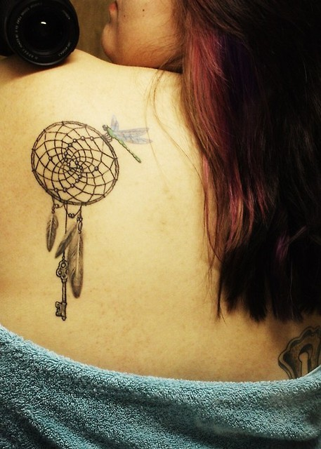 Chic Classy Dream Catcher Tattoo Design