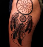 Glamorous Excellent Dream Catcher Tattoo