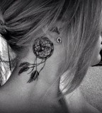 Inviting Dream Catcher Neck Tattoo for Female