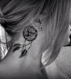 Inviting Dream Catcher Neck Tattoo for Female