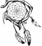 Elegant Dreamcatcher Tattoo Style By Cynthiafranca