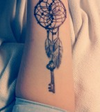 Creative Elegant Dream Catcher Tattoo