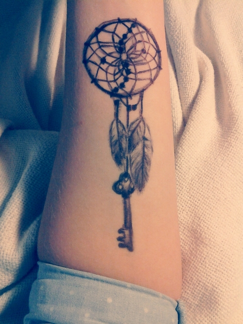 Creative Elegant Dream Catcher Tattoo