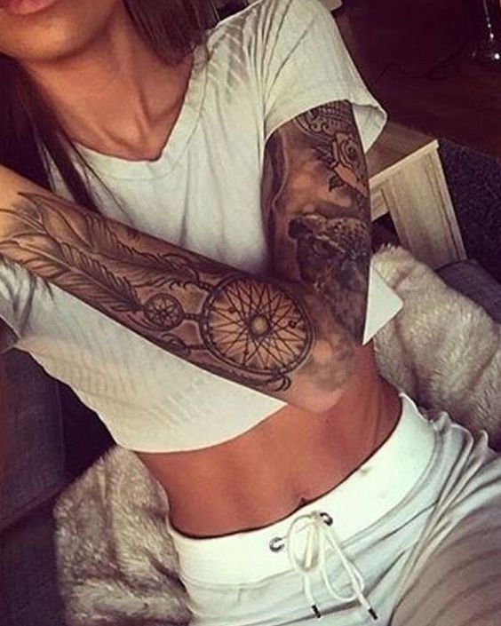 dreamcatcher-sleeve-tattoo