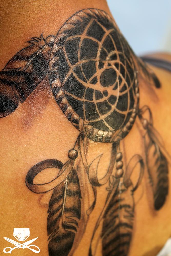Bold Great Dreamcatcher Tattoo Designs Ideas