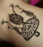 Black Dreamcatcher Tattoo Designs Ideas