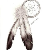 Dreamcatcher Tattoo Design Sketch On Side