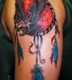 Beautiful Dreamcatcher Tattoo Design on Hands for Men