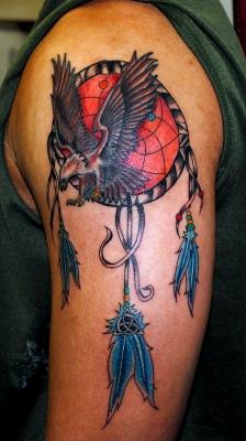 Beautiful Dreamcatcher Tattoo Design on Hands for Men