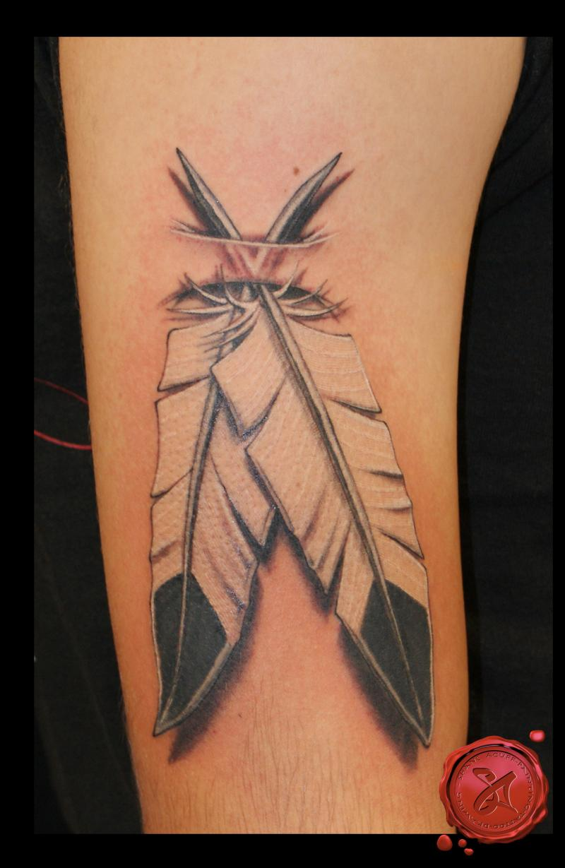 The Native American Eagle Feather Tattoo Design for Men