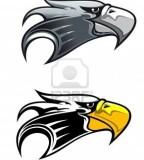 Illustration of Eagle Symbol Isolated On White For Tattoo Design