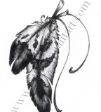 Great Drawing / Sketches of Eagle Feather - Feather Tattoo by Tylly