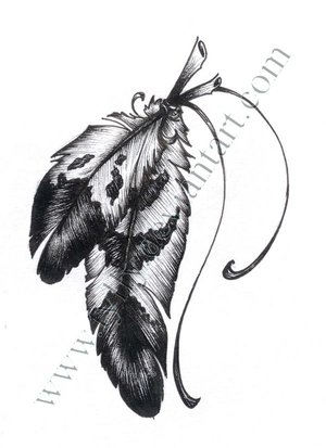 Great Drawing / Sketches of Eagle Feather – Feather Tattoo by Tylly