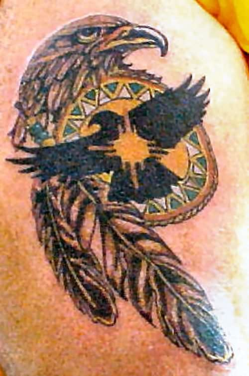 Cool Eagle Feather Tattoo Design Ideas
