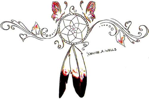 Contemporary Eagle Feather Tattoo Design