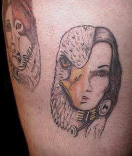 Eagle Feather / Women Tattoo Design
