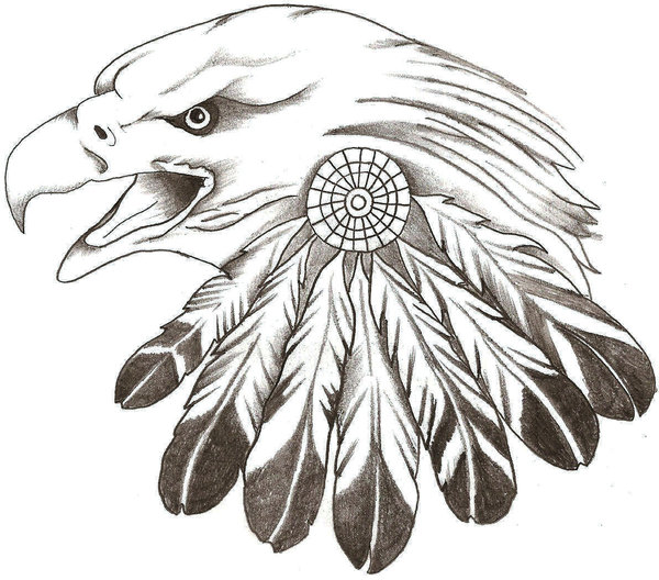 Awesome Eagle Tattoos Drawing Design