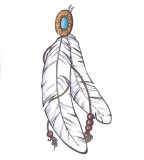 Indian Feather Tattoo Design Sketches and Ideas