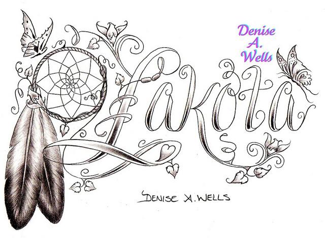 Lakota Eagle Feather Tattoo Design Drawing / Sketches