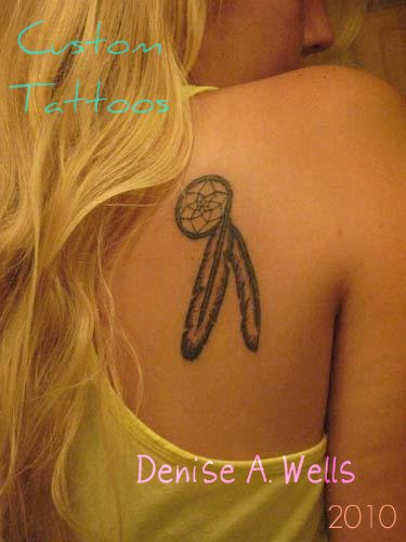 Native American Dreamcatcher Feather Tattoo Designs by Denise