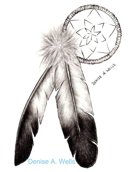Eagle Feathers Tattoo Design Drawing for Tattoo