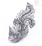 Stunning Swallow Feather Tattoo Drawing Design