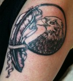 Eagles and Feathers Tattoo Design Works for Men