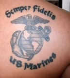 Semper Fidelis Eagle Globe And Anchor Marine Corps Tattoo