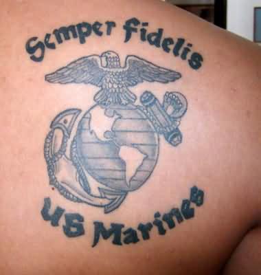 Semper Fidelis Eagle Globe And Anchor Marine Corps Tattoo