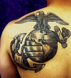 Da Weis Marine Corps Eagle Globe And Anchor Emblem Tattoo