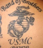 Band of Brothers Eagle Globe and Anchor Tattoo