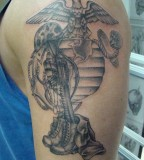 Eagle Globe And Anchor Tattoo Patriotic Tattoo