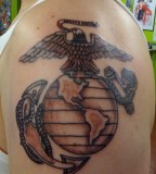 Eagle Globe And Anchor US Marines Emblem Tattoo