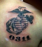 Eagle Globe And Anchor 0311 Tattoo