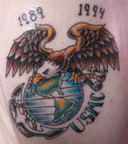 1989-1994 Eagle Globe Anchor Tattoo