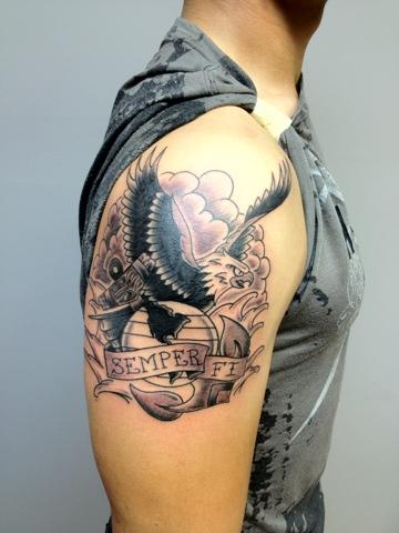 Cool Tattoo Eagle Globe And Anchor Tattoo