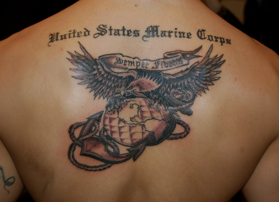 USMC Eagle Globe And Anchor on Back By Hotwheeler