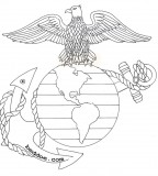 USMC Tattoo Eagle Globe And Anchor Tattoo Sketch