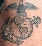 Patriotic Tattoo Eagle Globe And Anchor Tattoo