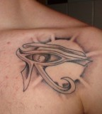 Huros Eye Shape Tattoo Design