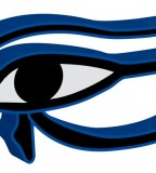 Blue Horus Eye Tattoo Design Sketch