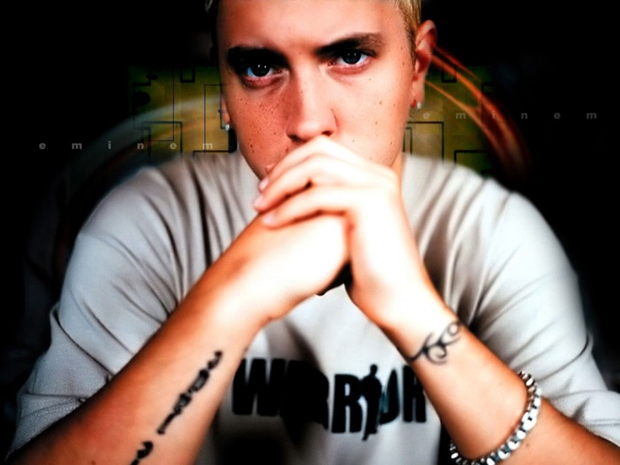 Eminem Outer Right Arm and Wrist Band Tattoos