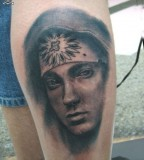 Gorgeous Eminem's Face Inspired Tattoo Inpirations