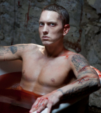 Cool Eminem Bloody Tattoos in Video Clip