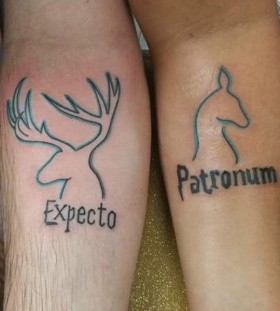 expecto patronum couples tattoos