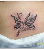 Small Beautiful Fairy Girls Shaped Tattoo Design Photo